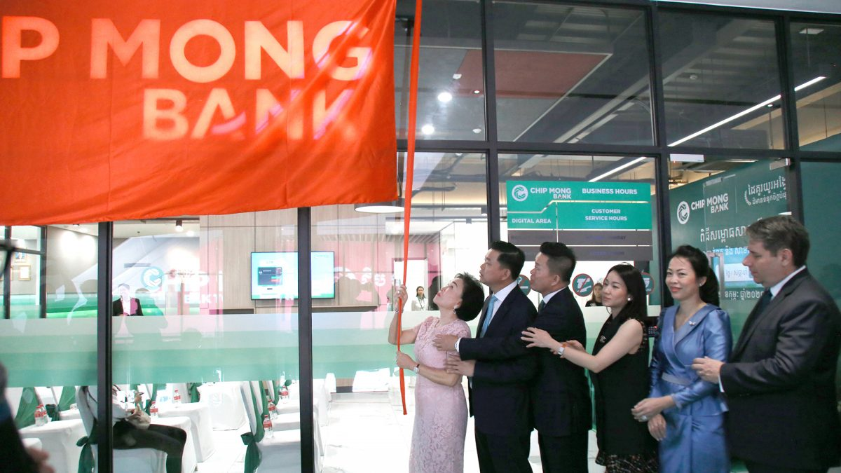 Chip Mong Bank Launched Two New Branches at Once