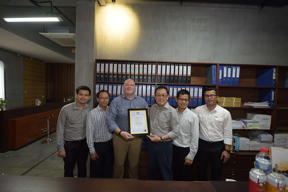 Chip Mong Industries Receives Award of New ISO of Quality Management System
